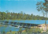 "<span class=""caption-caption"">Jones Weir, source of Mundubbera's water supply, on the picturesque Burnett River</span>, c1970-2000. <br />Postcard, collection of <span class=""caption-contributor"">Murray Views Collection</span>."