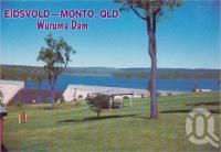 "<span class=""caption-caption"">Waruma Dam, constructed in 1986, this dam has become a popular picnic and skiing resort, it has a capacity of 185,000 megalitres when full, and supplies water to the Burnett Valley, Eidsvold</span>, c1970-2000. <br />Postcard, collection of <span class=""caption-contributor"">Murray Views Collection</span>."