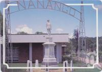 "<span class=""caption-caption"">War memorial, Nanango</span>, c1970-2000. <br />Postcard, collection of <span class=""caption-contributor"">Murray Views Collection</span>."
