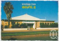 """<span class=""""caption-caption"""">Quilpie Shire Hall</span>, c1970-2000. <br />Postcard, collection of <span class=""""caption-contributor"""">Murray Views Collection</span>."""