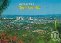 "<span class=""caption-caption"">Mount Coot-tha</span>, c1990. <br />Postcard by <span class=""caption-publisher"">Murray Views Pty Ltd</span>, collection of <span class=""caption-contributor"">Centre for the Government of Queensland</span>."