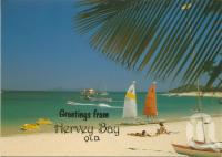 "<span class=""caption-caption"">Hervey Bay</span>, 1991. <br />Postcard by <span class=""caption-publisher"">Murray Views Pty Ltd</span>, collection of <span class=""caption-contributor"">Centre for the Government of Queensland</span>."