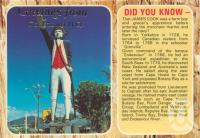 "<span class=""caption-caption"">Greeting from Cooktown (Captain Cook statue is in Cairns)</span>, c1974. <br />Postcard by <span class=""caption-publisher"">Murray Views Pty Ltd</span>, collection of <span class=""caption-contributor"">Centre for the Government of Queensland</span>."