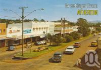 "<span class=""caption-caption"">Greeting from Atherton</span>, c1972. <br />Postcard by <span class=""caption-publisher"">Sydney G Hughes Pty Ltd</span>, collection of <span class=""caption-contributor"">Centre for the Government of Queensland</span>."