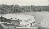 "<span class=""caption-caption"">Guest house, Lake Barrine</span>, c1945. <br />Postcard folder by <span class=""caption-publisher"">Murray Views Pty Ltd</span>, collection of <span class=""caption-contributor"">Centre for the Government of Queensland</span>."