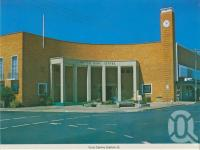 "<span class=""caption-caption"">Civic Centre Gatton</span>, c1980. <br />Postcard folder by <span class=""caption-publisher"">Murray Views Pty Ltd</span>, collection of <span class=""caption-contributor"">Centre for the Government of Queensland</span>."