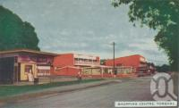 "<span class=""caption-caption"">Shopping centre, Torquay</span>, 1963. <br />Postcard folder by <span class=""caption-publisher"">Viewpoint Productions</span>, collection of <span class=""caption-contributor"">Centre for the Government of Queensland</span>."