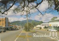 "<span class=""caption-caption"">Grigg Street, Ravenshoe</span>, 1990. <br />Postcard by <span class=""caption-publisher"">Murray Views Pty Ltd</span>, collection of <span class=""caption-contributor"">Centre for the Government of Queensland</span>."