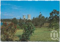 "<span class=""caption-caption"">Picnic Area and Lookout with view of Tarong Power Station under construction, Yarraman</span>, c1970-2000. <br />Postcard, collection of <span class=""caption-contributor"">Murray Views Collection</span>."