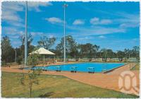 "<span class=""caption-caption"">Swimming Pool, Yarraman</span>, c1970-2000. <br />Postcard, collection of <span class=""caption-contributor"">Murray Views Collection</span>."