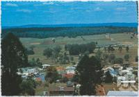 "<span class=""caption-caption"">Overlooking Yarraman with ""Carnian Hostel"" in background</span>, c1970-2000. <br />Postcard, collection of <span class=""caption-contributor"">Murray Views Collection</span>."