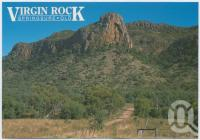 "<span class=""caption-caption"">Virgin Rock is situated 4km north of the town overlooking Lions Park, Springsure</span>, c1970-2000. <br />Postcard, collection of <span class=""caption-contributor"">Murray Views Collection</span>."