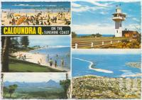 "<span class=""caption-caption"">King's Beach, The Lighthouse, Bulcock Beach, Glasshouse Mountains, Pumicestone Passage and Bribie Island</span>, c1970-2000. <br />Postcard, collection of <span class=""caption-contributor"">Murray Views Collection</span>."