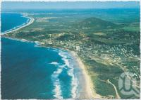 "<span class=""caption-caption"">Aerial view looking south towards Mt Coolum and Maroochydore Airport, Coolum Beach</span>, c1970-2000. <br />Postcard, collection of <span class=""caption-contributor"">Murray Views Collection</span>."