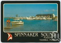 "<span class=""caption-caption"">Spinnaker Sound Marina, near the bridge at Bribie Island</span>, c1970-2000. <br />Postcard, collection of <span class=""caption-contributor"">Murray Views Collection</span>."