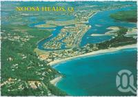 "<span class=""caption-caption"">Aerial view, showing Laguna Bay and Noosa River, Noosa Heads</span>, c1970-2000. <br />Postcard, collection of <span class=""caption-contributor"">Murray Views Collection</span>."