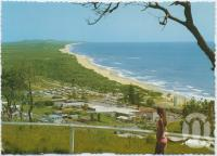 "<span class=""caption-caption"">Looking towards Noosa Heads from scenic lookout, Coolum Beach</span>, c1970-2000. <br />Postcard, collection of <span class=""caption-contributor"">Murray Views Collection</span>."