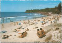 "<span class=""caption-caption"">Surfing beach, looking south, Coolum Beach</span>, c1970-2000. <br />Postcard, collection of <span class=""caption-contributor"">Murray Views Collection</span>."