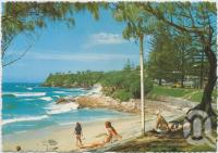 "<span class=""caption-caption"">Looking south toward Point Arkwright and Wilkinson Park, Coolum Beach</span>, c1970-2000. <br />Postcard, collection of <span class=""caption-contributor"">Murray Views Collection</span>."