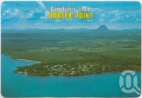 "<span class=""caption-caption"">Aerial view of Boreen Point on the western shore of Lake Cootharaba</span>, c1970-2000. <br />Postcard, collection of <span class=""caption-contributor"">Murray Views Collection</span>."