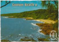 "<span class=""caption-caption"">Looking south to the Three Bays from the scenic coastal highway, Coolum Beach</span>, c1970-2000. <br />Postcard, collection of <span class=""caption-contributor"">Murray Views Collection</span>."