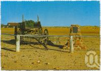 "<span class=""caption-caption"">Mail buggy in main street, Birdsville</span>, c1970-2000. <br />Postcard, collection of <span class=""caption-contributor"">Murray Views Collection</span>."