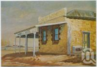 "<span class=""caption-caption"">Historic landmark, Birdsville Hotel, produced from an original oil painting by F McGinn</span>, c1970-2000. <br />Postcard, collection of <span class=""caption-contributor"">Murray Views Collection</span>."
