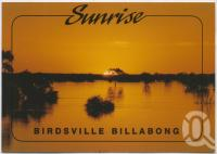 "<span class=""caption-caption"">Sunrise, Birdsville Billabong</span>, c1970-2000. <br />Postcard, collection of <span class=""caption-contributor"">Murray Views Collection</span>."