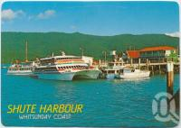 "<span class=""caption-caption"">The cruise boats ready for departure to the various Whitsunday Islands, Shute Harbour</span>, c1970-2000. <br />Postcard, collection of <span class=""caption-contributor"">Murray Views Collection</span>."