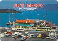 "<span class=""caption-caption"">Shute Harbour, the departure point for the launches and yachts cruising the Whitsunday Islands</span>, c1970-2000. <br />Postcard, collection of <span class=""caption-contributor"">Murray Views Collection</span>."
