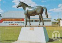 "<span class=""caption-caption"">Bernborough' queensland's greatest racehorse, Oakey</span>, c1970-2000. <br />Postcard, collection of <span class=""caption-contributor"">Murray Views Collection</span>."