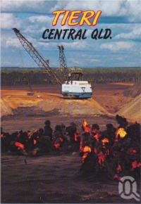 "<span class=""caption-caption"">Dragline Operations at Oakey Creek Coal Mine, Tieri</span>, c1970-2000. <br />Postcard, collection of <span class=""caption-contributor"">Murray Views Collection</span>."