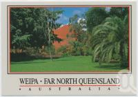 "<span class=""caption-caption"">Administration Gardens, Weipa</span>, c1970-2000. <br />Postcard, collection of <span class=""caption-contributor"">Murray Views Collection</span>."