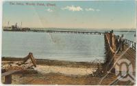 "<span class=""caption-caption"">Jetty, Woody Point</span>, c1910. <br />Postcard, collection of <span class=""caption-contributor"">Fryer Library, UQ</span>."