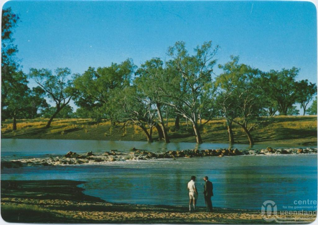Cunnamulla Australia  city images : Weir on Warrego River, south of town, Cunnamulla , c1970 2000 ...