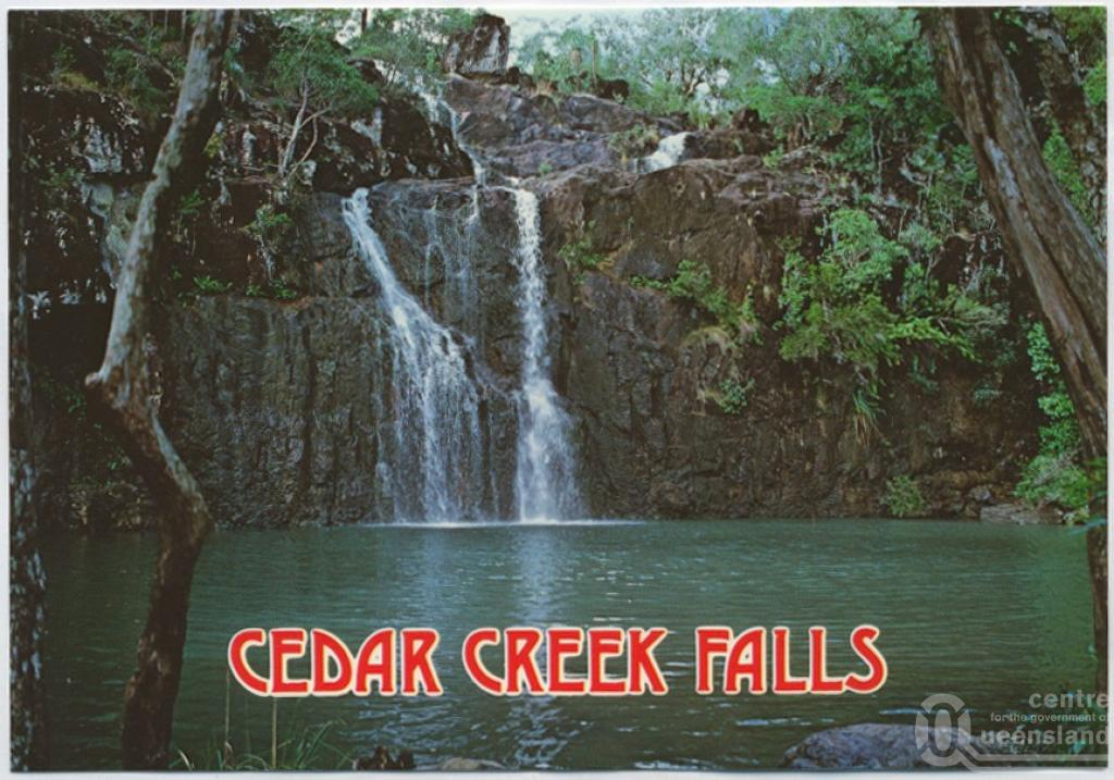 Cedar creek falls conway national park queensland places for Ceader creek
